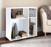 Homestar Asymmetrical 4-Shelf Cube Storage White