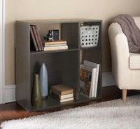 Homestar Asymmetrical 4-Shelf Cube Storage Grey