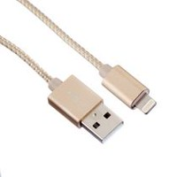 blackweb USB Charge/Sync Cable with Lightning Connector Gold