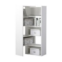 Homestar Expandable Shelving Console in White
