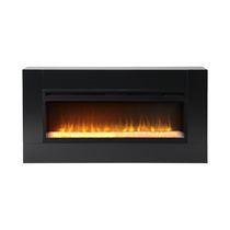 Flamelux Mantova 42 Inches Wide Freestanding Firebox Black