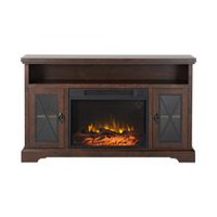 Flamelux Padova Media Fireplace in Walnut, 57.5 inch Wide