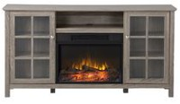 Flamelux Provence Media Fireplace in Reclaimed Wood, 60 inch Wide