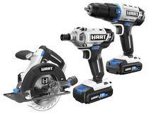 HART 20-Volt 3 Tool Combo Kit (2) HART 20-Volt 2.0Ah Lithium-Ion Batteries