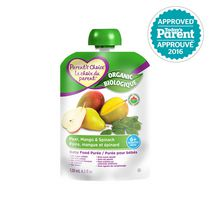 Parent's Choice Organic Baby Food Puree - Pear, Mango & Spinach