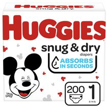 HUGGIES Snug & Dry Diapers, Mega Colossal Pack
