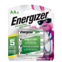 Energizer® Recharge® Universal® AA-4 Batteries