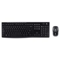 Logitech Wireless Keyboard and Mouse Combo MK270 - Black