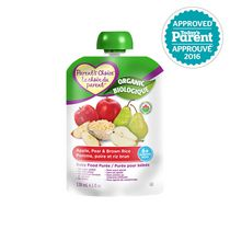 Parent's Choice Organic Baby Food Puree - Apple, Pear & Brown Rice