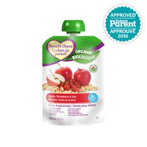 Parent's Choice Organic Baby Food Puree - Apple, Strawberry & Oat