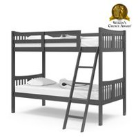 Mainstays twin over full metal black bunk bed for Stork craft caribou bunk bed