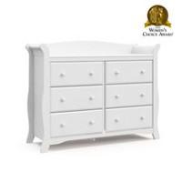 Storkcraft Avalon 6-Drawer Universal Dresser White