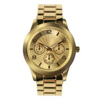 Fashion Watches Women's Gold Tone Boyfriend Watch