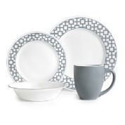 Corelle ® Impressions™ 16 Piece Urban Grid Dinnerware Set