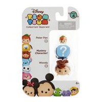 Disney Tsum Tsum Woody/Mystery Figure/Peter Pan 3 Pack Figures