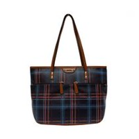 George Women's Lacey Item Tote Fall Plaid