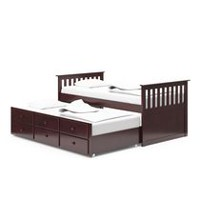 Broyhill Kids Marco Island Collection Captain's Twin Size Espresso Bed with Trundle Bed and Drawers