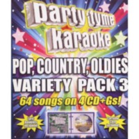Sybersound - Party Tyme Karaoke: Pop, Country, Oldies Variety Pack 3 (4CD)
