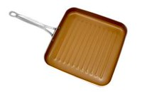 "Gotham Steel 10.5"" Non-Stick Grill Pan with Ti-Cerama Surface"