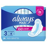 Always Maxi Size 3 Extra Long Super Pads with Wings