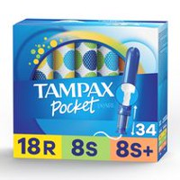 Tampax Pocket Pearl Triplepack (Regular/Super/Super Plus) Plastic Tampons