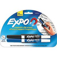 Expo Magnetic Clip Eraser with 2 Fine Markers