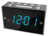 "Sylvania 1.2"" Jumbo Digit Dual Alarm Clock with AM/FM Radio"