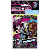 Monster High - Invitations et enveloppes