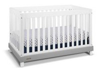 Graco Maddox 4-in-1 Convertible Crib White/Gray