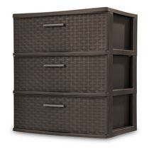 Sterilite 3-Drawer Wide Weave Tower