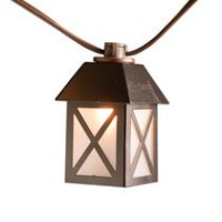 hometrends Metal House Lantern String Light Set