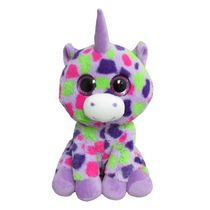 Animal aux grands yeux colorés en peluche Kids 0-9 licorne pourpre de 9 po