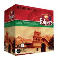 Folgers Lively Colombian Decaf K‑Cup Pods