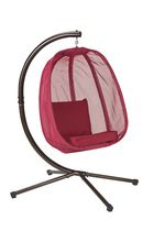 Flowerhouse Mesh Pattern Red Hanging Egg Chair - FHEC100-RD