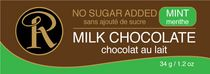 Ross Chocolates No Sugar Added Mint Chocolate Bar