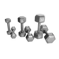 CAP Barbell Hexagon Gray Dumbbells, 8 lbs.