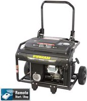 Firman 4000 Watt 6.5 HP Remote Start Gas Powered Portable Generator with Wheel Kit