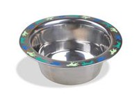 Van Ness Lightweight Decorated Stainless Steel Dog Dish