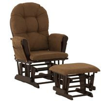 Storkcraft Comfort Glider and Ottoman (Espresso Finish) Espresso/Chocolate