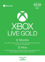 12 Month Xbox Live Gold Membership Digital Download