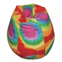 Boscoman Pear Shaped Red Rainbow Tie-Dye Beanbag Chair