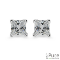3mm CZ Princess Studs