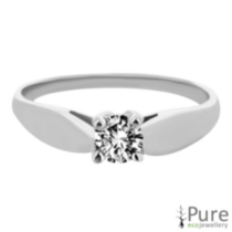 0.10 ct - Round Brilliant Diamond Solitaire Ring 7