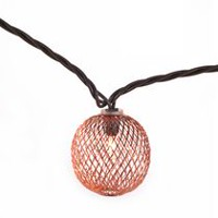 hometrends Gold Mesh String Light Set