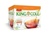 Thé Orange Pekoe de King Cole, 8/12 dosettes king cups