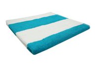 "Mainstays 26"" x 56"" Cabana Stripe Beach Towel Aqua"