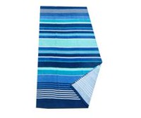 Mainstays Multi Stripe Blue Printed Beach Towel