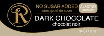 Ross Chocolates No Sugar Added Almond Dark Chocolate Bar