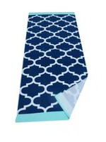 Mainstays Geo Blue Printed Beach Towel