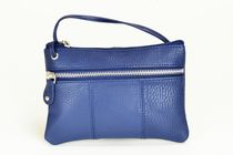Champs Leather Cross Body Bag Navy Blue